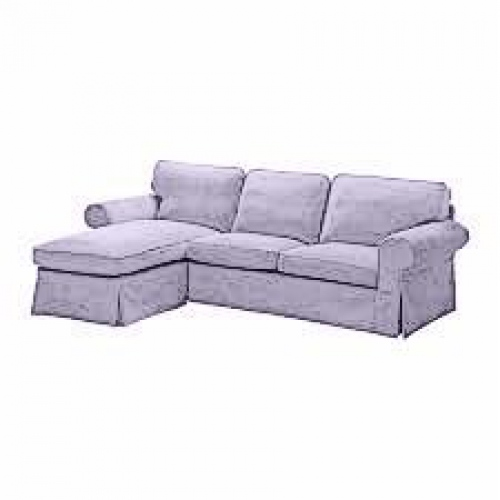 Cover for ektorp two seater sofa with chaise lounge for Couch with 2 chaise lounges