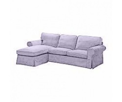 cover for Ektorp two seater sofa with chaise lounge