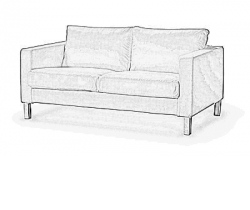 cover for Karlstad two seater sofa